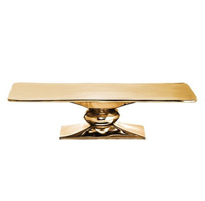 Rock Rectangle Cakestand Gold - LIFE MODERNE