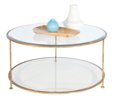 Rollo Gold Leaf Round Coffee Table - GDH | The decorators department Store