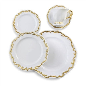 Mottahedeh Barriera Corallina Gold Dinnerware Collection - LIFE MODERNE - 2