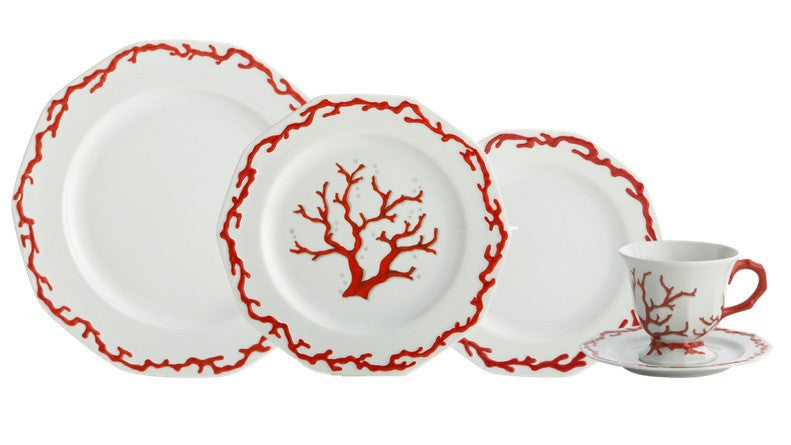 Mottahedeh Barriera Corallina Red Dinnerware Collection - LIFE MODERNE - 2