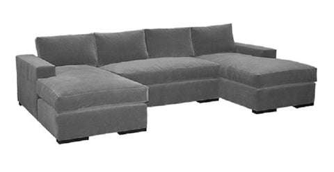 Block Arm Sectional Sofa - LIFE MODERNE