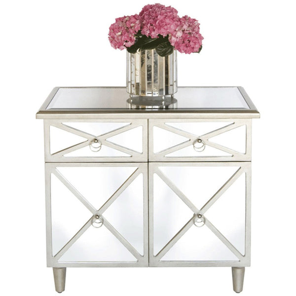 Claude Mirrored Bedside Table/Nightstand - GDH | The decorators department Store