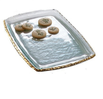 Annieglass Edgey Martini Tray in Gold - LIFE MODERNE - 1