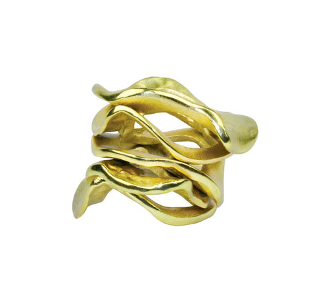 FLUX NAPKIN RING IN GOLD S/4 - LIFE MODERNE