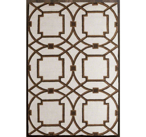 Arabesque Rug | Mocha by Global Views - LIFE MODERNE