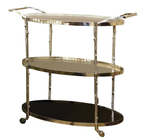 Arbor Bar Cart by Global Views, Nickel - LIFE MODERNE