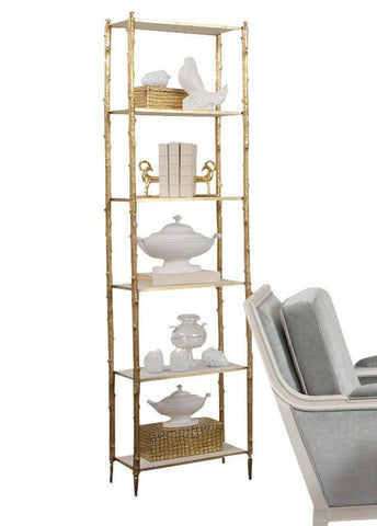 Global Views | Arbor Etagere-Brass and White Marble - LIFE MODERNE - 1