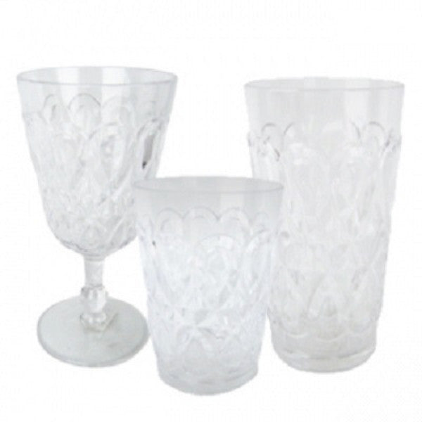 Casablanca Outdoor Drinkware - Clear - Set of 6 - LIFE MODERNE - 1