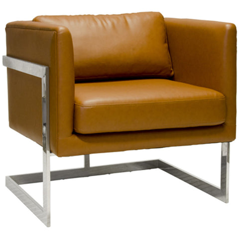 Macallan Brown Leather Chair - LIFE MODERNE