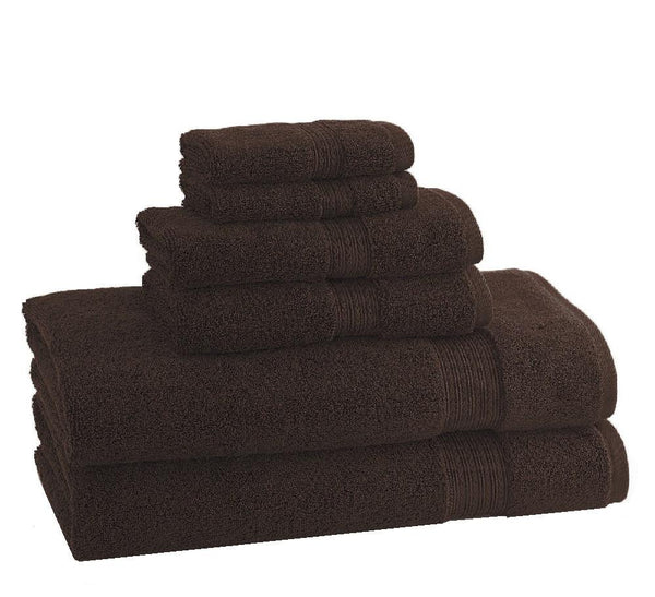 CLASSIC EGYPTIAN TOWELS | Set of 6 | Chocolate - LIFE MODERNE