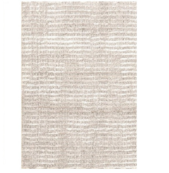 Cut Stripe Ivory Hand Knotted Rug - LIFE MODERNE
