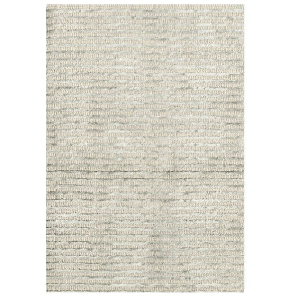 Cut Stripe Silver Hand Knotted Rug - LIFE MODERNE