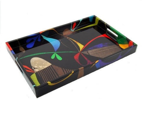 Rex Ray Fleuron Lacquer Breakfast Tray - LIFE MODERNE
