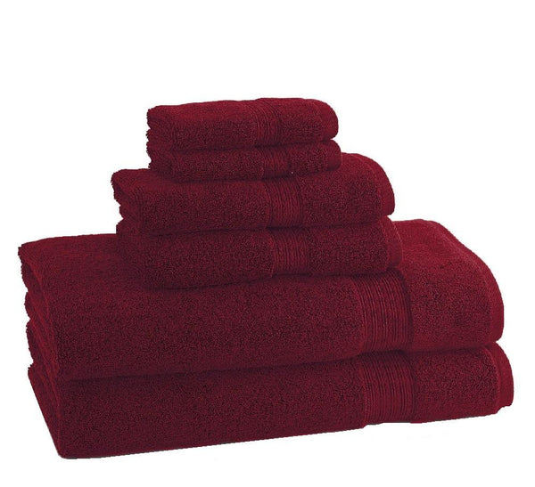 CLASSIC EGYPTIAN TOWELS | Set of 6 | Garnet Red
