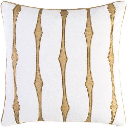 Graphic Stripe Pillow by Candice Olson | White - LIFE MODERNE