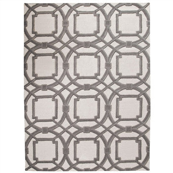 Arabesque Rug |Gray/Ivory by Global Views - LIFE MODERNE