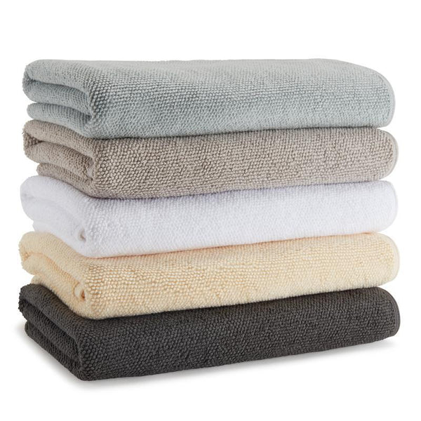 Cobblestone Textured Aegean Cotton Towels-Sets of 7