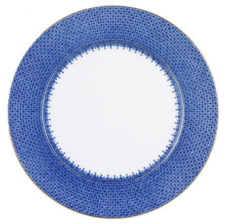 Mottahedeh Lace Service Plate - Blue - LIFE MODERNE
