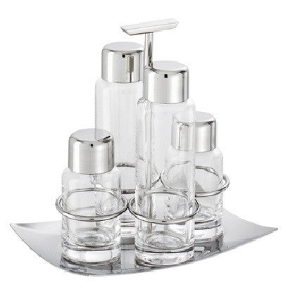 Linea Q Stainless Steel Cruet set - GDH | The decorators department Store