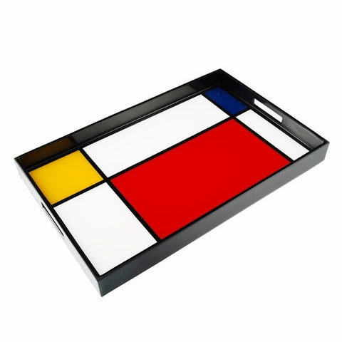 Serving Tray-Mondrian Inspired 14 x 22 - LIFE MODERNE