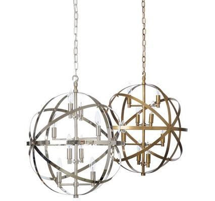 Barbara Cosgrove Pendant Sphere Nickel / Antique Brass - GDH | The decorators department Store