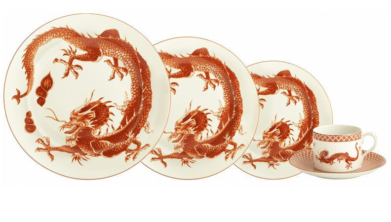 Mottahedeh Red Dragon Dinnerware Collection - LIFE MODERNE - 2