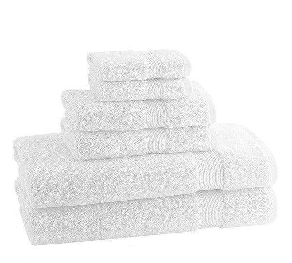 CLASSIC EGYPTIAN TOWELS | Set of 6 | White - LIFE MODERNE