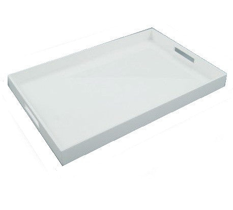 White Lacquer  Tray - LIFE MODERNE