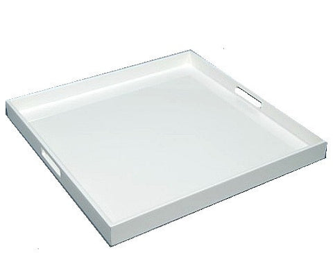 Large Square Serving Tray 22 x 22 White - LIFE MODERNE