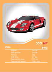 Ford GT Tuner League Card