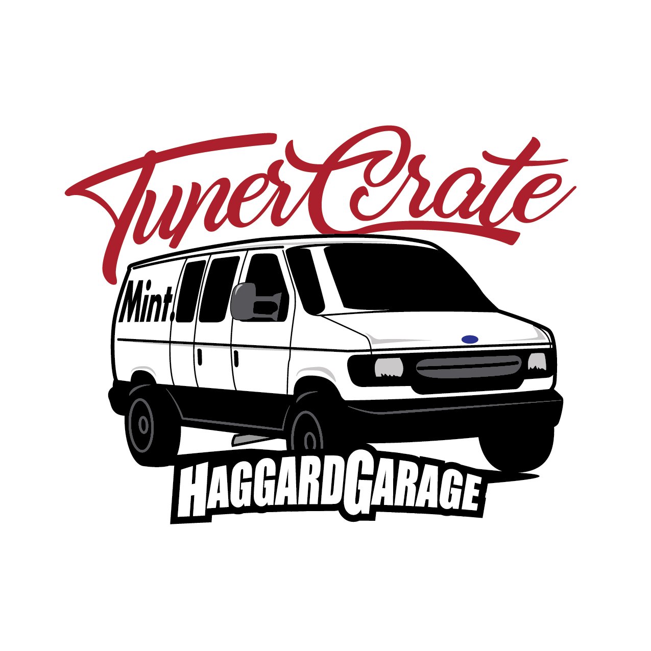 Haggard Garage x Tuner Crate Van Sticker