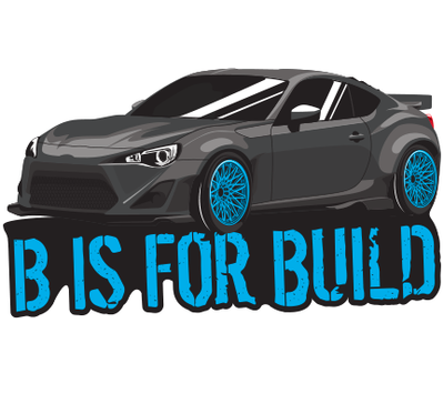 B is for Build BRZ Sticker