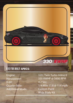 B is for Build BRZ Tuner League Card