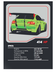 BMW E92 M3 Tuner League Card
