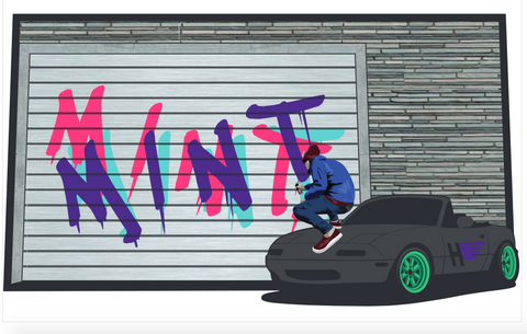 Graffiti Mint Air Freshener