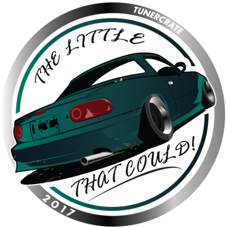 """The Little Miata That Could"" Sticker"