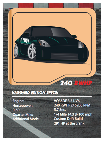 Haggard Garage 350z Tuner League Card