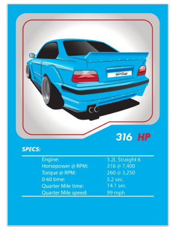 BMW E36 Tuner League Card