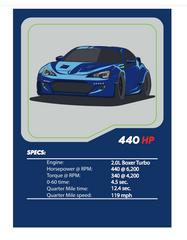Fate of the Furious Subaru BRZ Tuner League Card