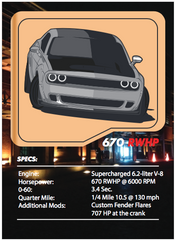 Widebody Hellcat Tuner League Card