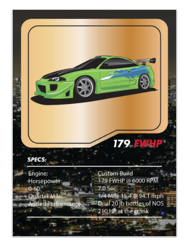 Fast and Furious Eclipse Tuner League Card