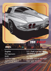 '63 Split Window Vette Tuner League Card
