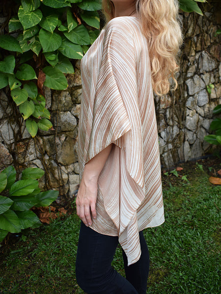 Monsoon Crop Silk Kaftan