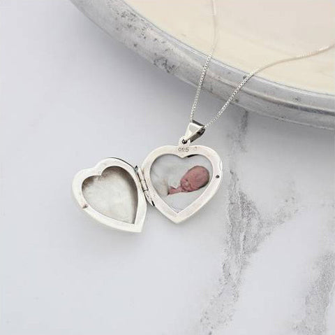 Large Silver Locket by Bish Bosh Becca
