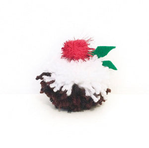 Christmas Pudding Pom Pom Craft Kit