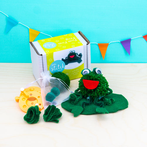 Frog Pom Pom Craft Kit