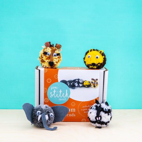 Safari Friends Pom Pom Craft Kit