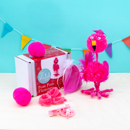 Flamingo Pom Pom Craft Kit