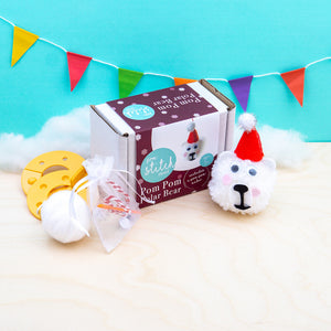 Polar Bear Pom Pom Craft Kit