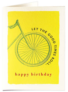 Let The Good Times Roll Birthday Card
